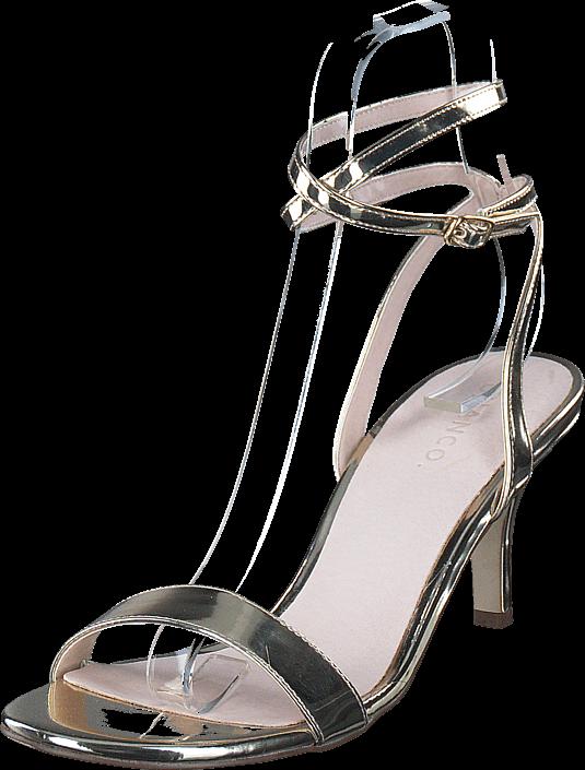 Footway SE - Bianco Strap Sandal AMJ17 93 Gold, Skor, Klackskor, Lågklackade sandaletter, Grå 547.00