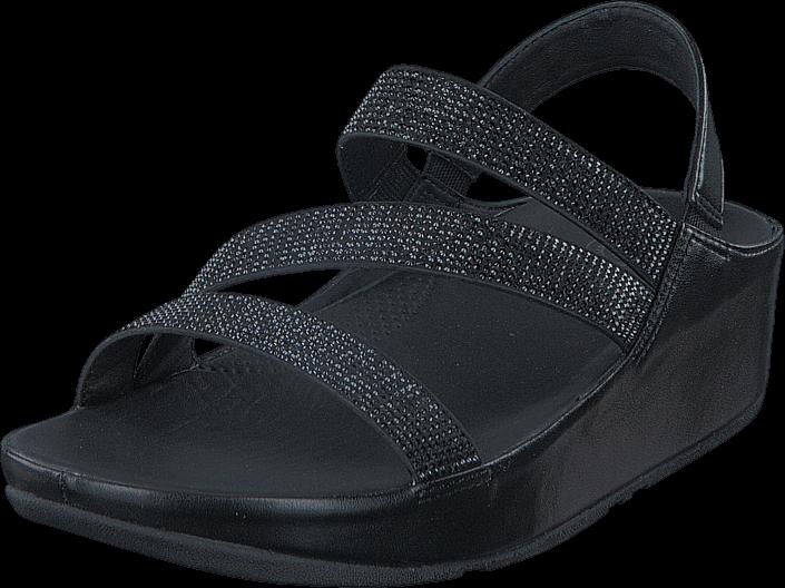 Fitflop Crystal Z-strap Sandal Black