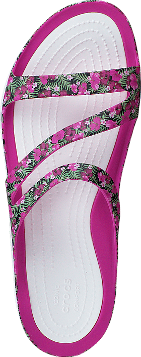 Crocs - Swiftwater Graphic Sandal W Pink/Floral