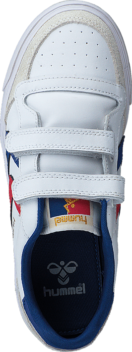 Hummel Stadil Jr Leather Low White/Blue/Red/Gum