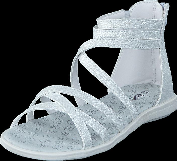 Footway SE - Gulliver 433-0053 White, Skor, Sandaler & Tofflor, Gladiatorsandal, Vit, Unisex, 287.00