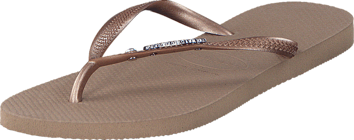 Havaianas - Slim Metal Logo And Crystal Rose Gold