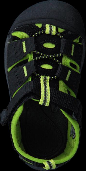 Keen Newport H2 Tots Black/Lime Green