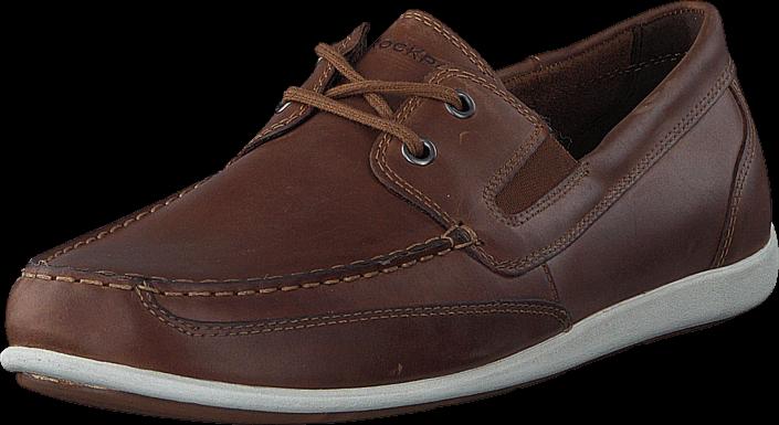 Rockport BL4 Boat Shoe Cognac
