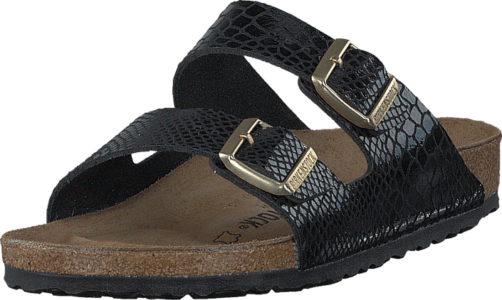 Birkenstock Arizona Regular Birko-Flor Shiny Snake Black