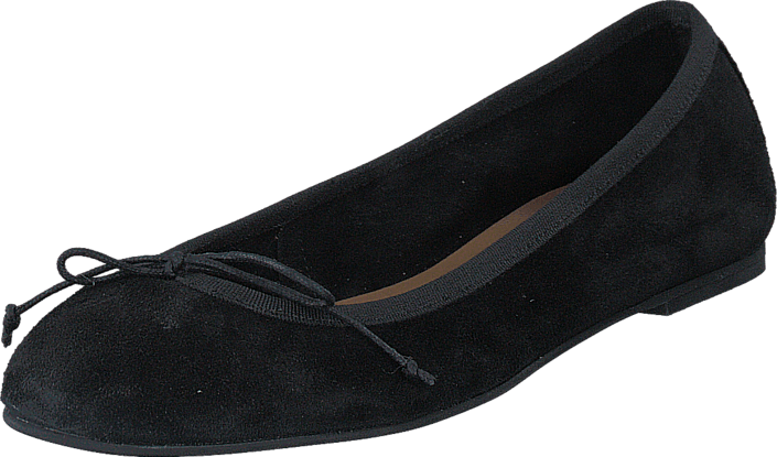Pieces - Pskate Suede Ballerina Black