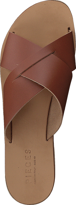 Pieces Pslucca Leather Sandal Cognac