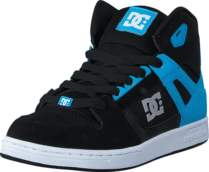 Footway SE - DC Shoes Rebound SE/Glow in the dark Black/Blue, Skor, Sneakers & Sportskor, Hög 647.00