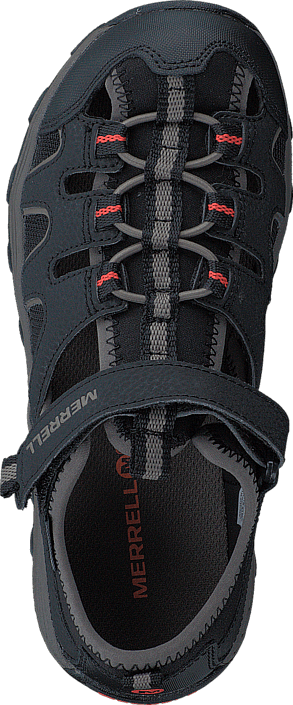 Merrell Boys Hydro H2O Hiker Sandal Black/Gunsmoke/Orange