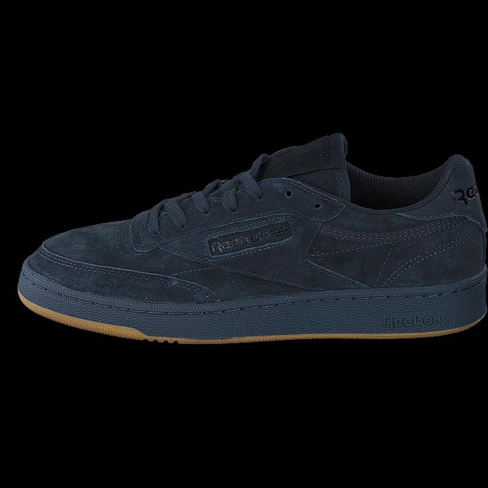 buy reebok classic club c85 tg lead black gum black shoes. Black Bedroom Furniture Sets. Home Design Ideas