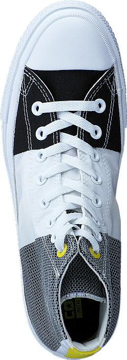 Converse - Chuck Taylor II Hi Eng. Woven White/Black/Fresh Yellow