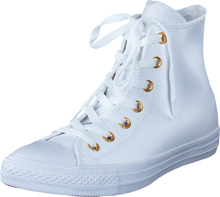 Converse All Star Classic Hi Leather White/Gold