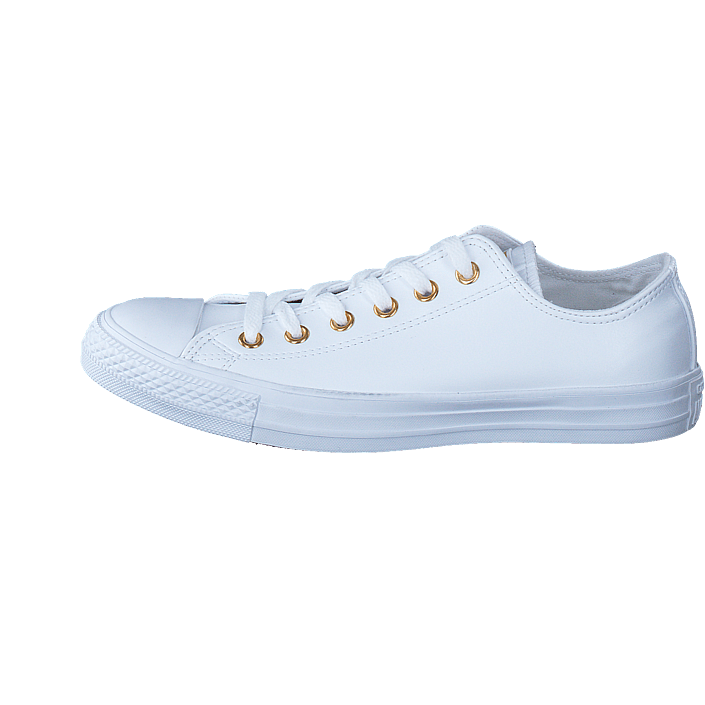 ad09bf014ca9 Köp Converse All Star Classic Ox Leather White Gold vita Skor Online ...