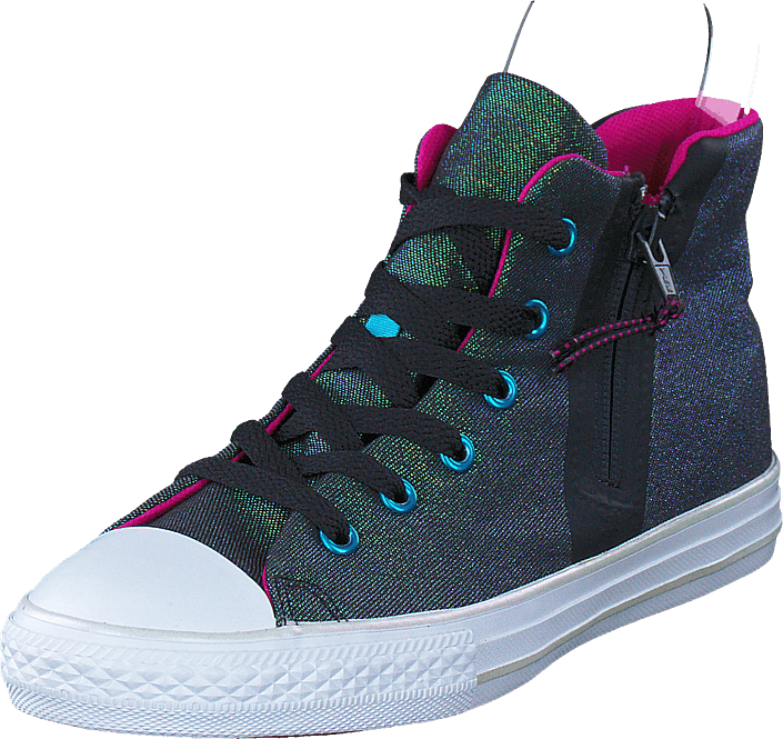 Footway SE - Converse All Star Sport Zip Shine Black/Magenta Glow, Skor, Sneakers & Sportskor 487.00