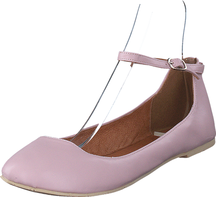 Bianco Ankle Strap Ballerina Light Pink