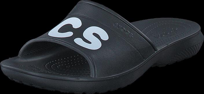 Crocs Classic Graphic Slide Black/White