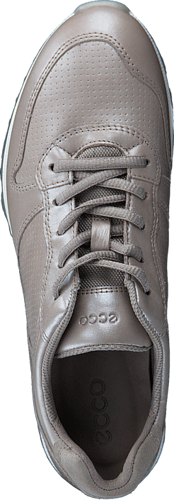 Ecco - 430563 Sneak Leather Moon Rock-Silver