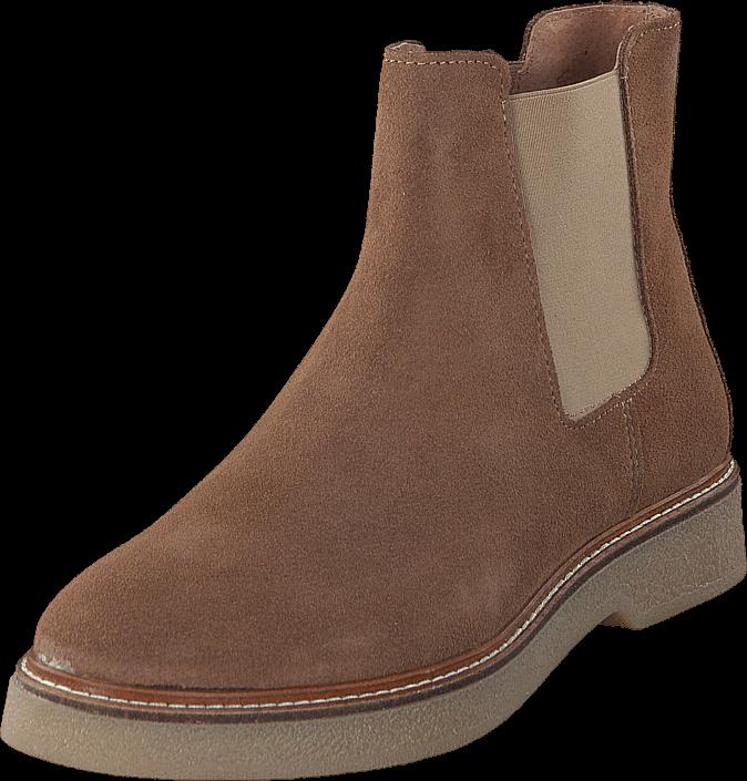 Footway SE - Pieces Pamelin Suede Boot Cognac, Skor, Kängor & Boots, Chelsea Boots, Brun, Dam 947.00