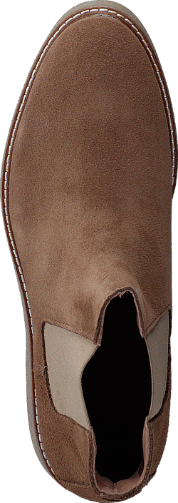 Pieces Pamelin Suede Boot Cognac