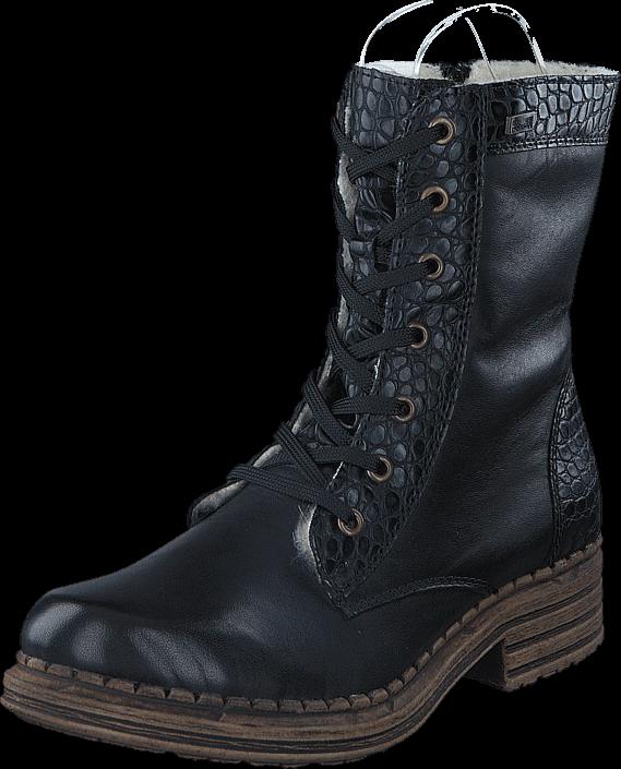 Footway SE - Rieker Y9622-00 00 Black, Skor, Kängor & Boots, Varmfodrade kängor, Svart, Dam,  997.00