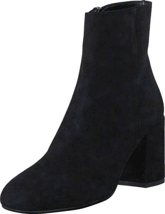 A Pair - Bootlet W/Chunky Heel Black Suede