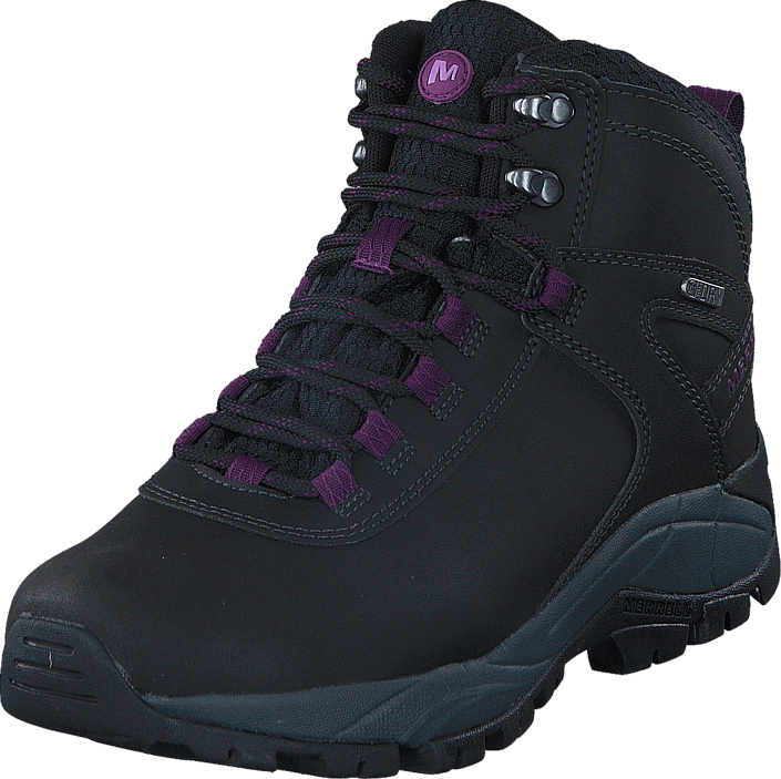 Merrell - Vego Mid Leather WTPF Black/Gloxinia