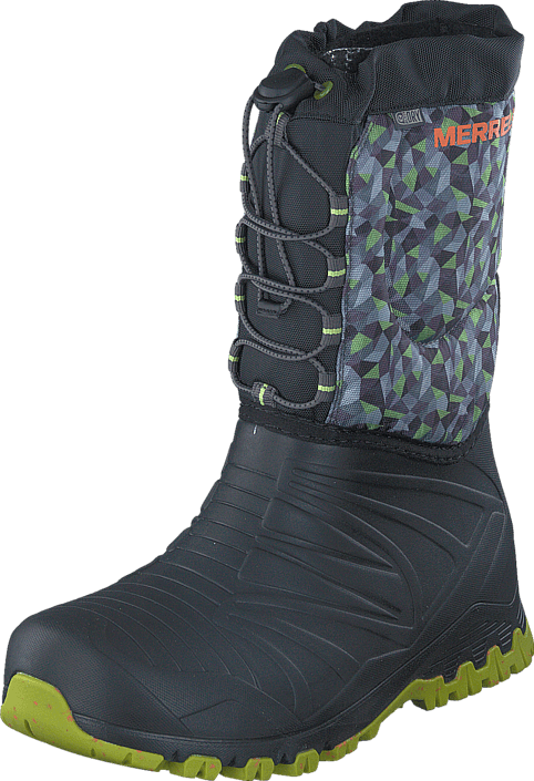 Footway SE - Merrell Snow Quest Lite WTPF Black/Green, Skor, Stövlar & Stövletter, Gummistövl 747.00