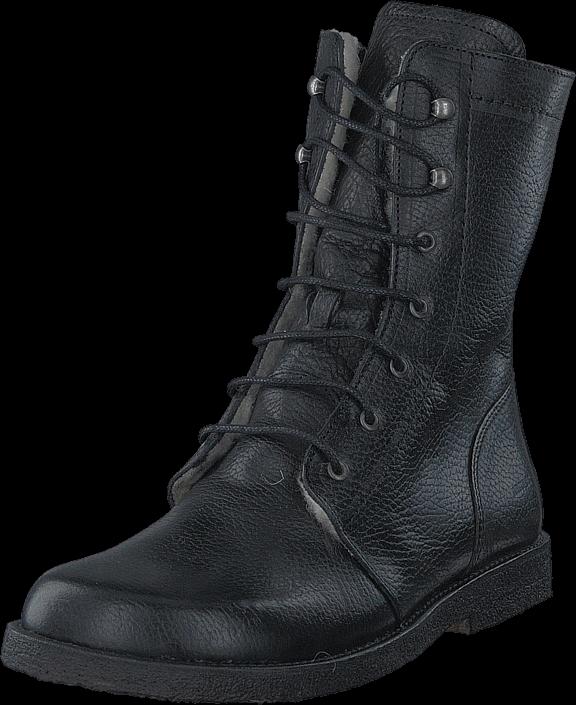 Angulus Lace-up boot w. zipper Black