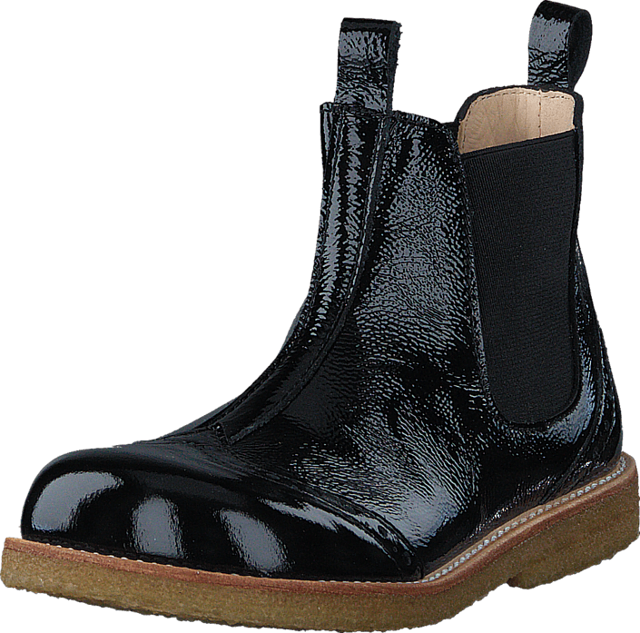 Angulus - Chelsea boot stitched detail 1310/001 Black/Black