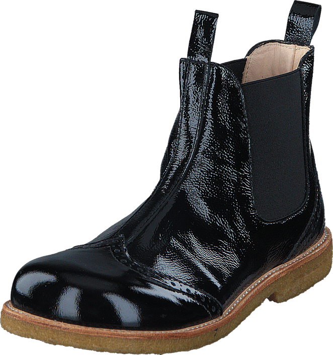 Angulus - Chelsea boot stitched detail J 1310/001 Black/Black