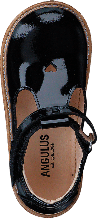 Angulus Mary janes w. heart and velcro 2320 Black