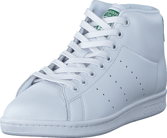 Footway SE - adidas Originals Stan Smith Mid Ftwr White/Ftwr White/Green, Skor, Sneakers & Sp 847.00