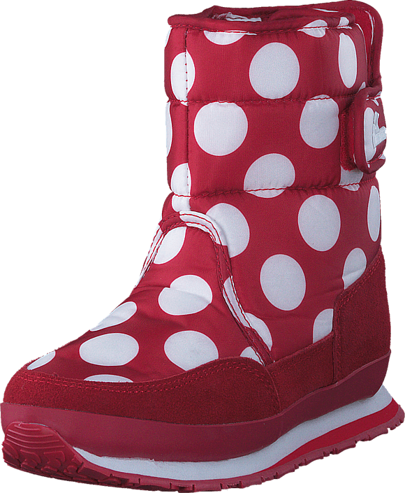 Rubber Duck - Kids Nylon Prints/Suede Red/White Dot