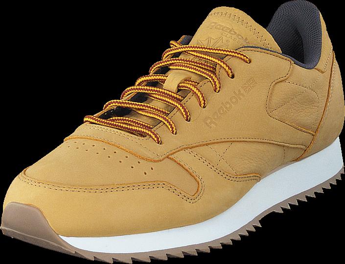 Footway SE - Reebok Classic Cl Leather Ripple Wp Golden Wheat/Urban Grey/Chalk, Skor, Sneaker 897.00