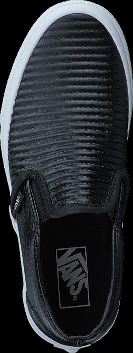Vans UA Classic Slip-On (Moto Leather) Black/White