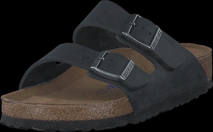 Birkenstock Arizona Regular Soft Black Oiled Leather