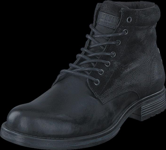 Jack & Jones Justin Combo Leather Anthracite, Sko, Boots, Kraftige støvler, Grå, Herre, 40