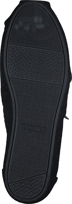 Toms - Seasonal Classic Black Wool/Faux Shearling