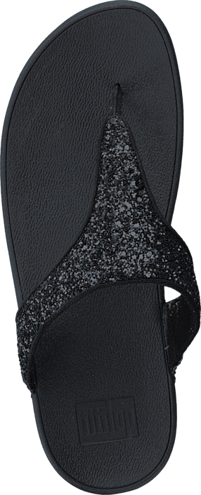 Fitflop Glitterball Toe-Post Black