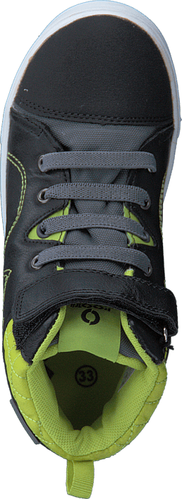 Footi - Hornfels Black/Lime