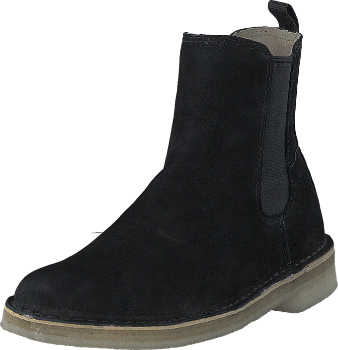 Clarks - Desert Peak. Black Leather
