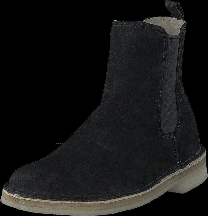 Clarks Desert Peak. Black Leather, Skor, Kängor & Boots, Chelsea Boots, Svart, Dam, 36