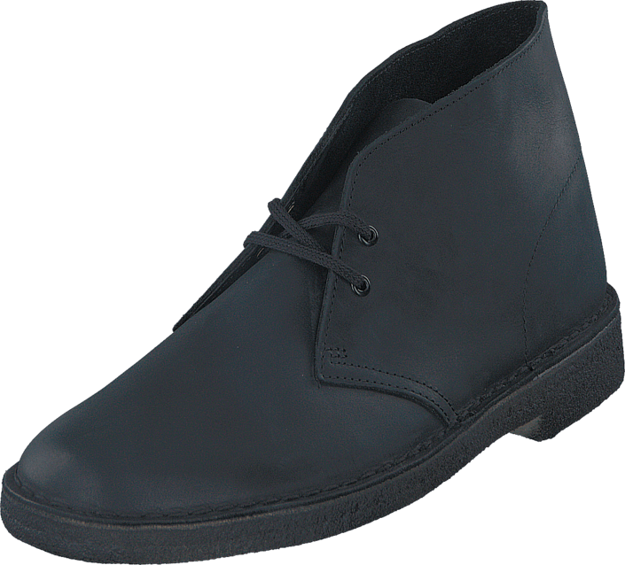 Clarks - Desert Boot Black Smooth Lea
