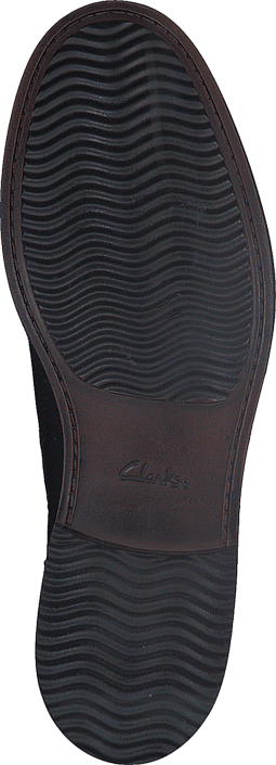Clarks Blackford Top Black Leather
