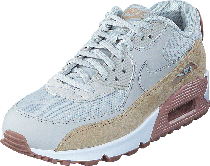 Nike Women's Air Max 90 Light Bone/Pink-White