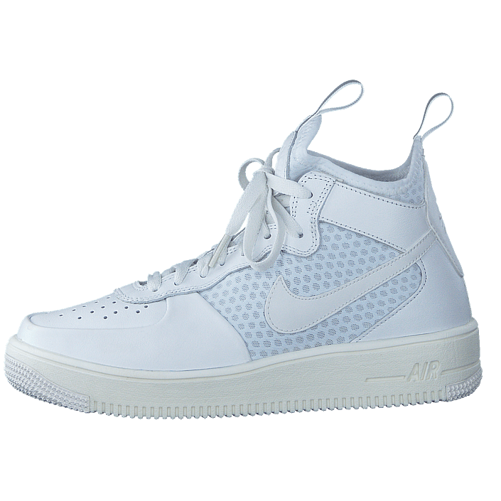 best sneakers 58f5e a070a Köp Nike Air Force 1 Ultraforce Mid-top White pure Platinum White vita Skor  Online   BRANDOS.se