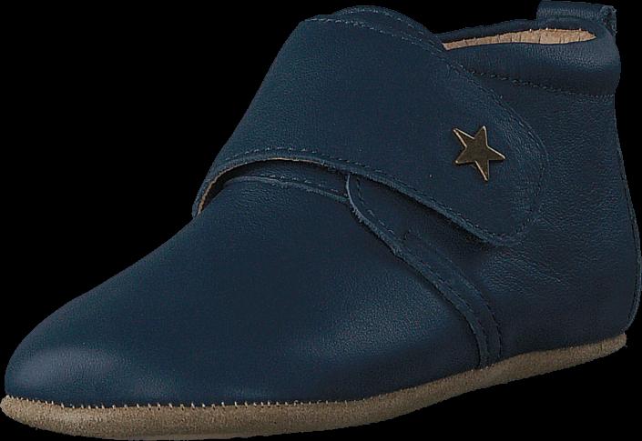 Bisgaard - Home Shoe Velcro Star Navy