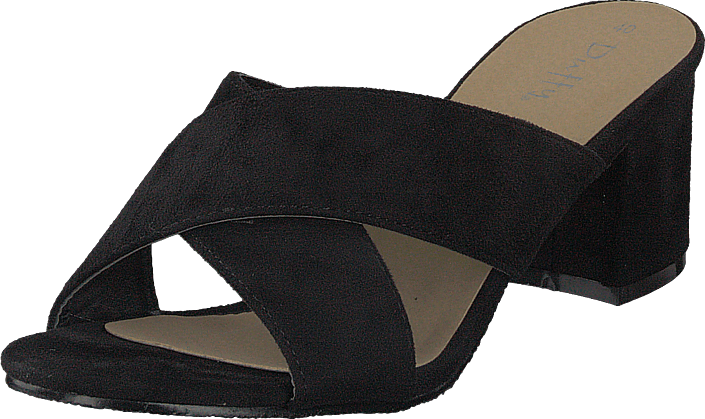 Duffy 97-00422 Black, Sko, Pumps & Høyhælte, Sandaletter med lave hæler, Svart, Dame, 37