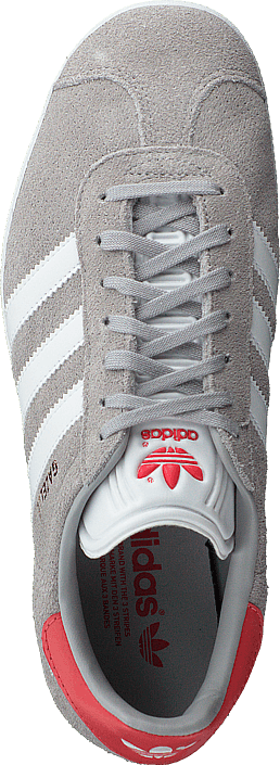 adidas Originals - Gazelle Grey Two/White/Trace Scarlet