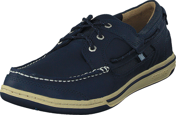 Footway SE - Sebago Triton Three Eye Navy Leather, Skor, Lågskor, Promenadskor, Blå, Lila, He 1297.00